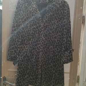 Leopard coat,size XS
